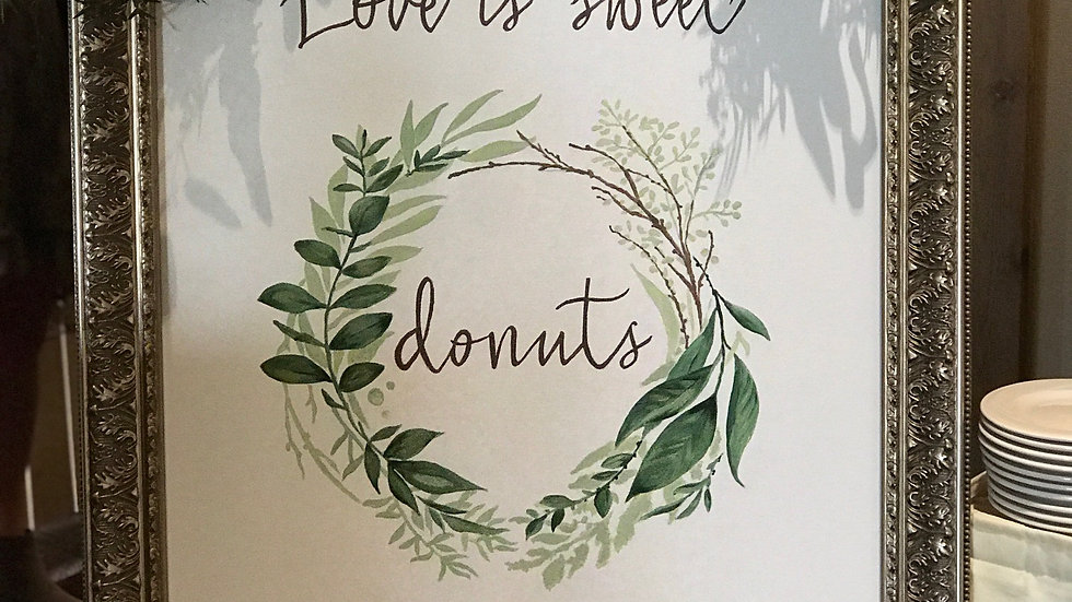 Hand-Painted Custom Welcome Sign on Canvas