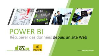 Avec Power BI, récupérez des données depuis un site Web