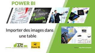Power BI : Importer des images dans une table