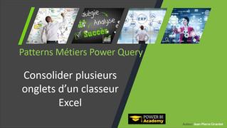 Power Query : Consolidez plusieurs onglets d'un classeur Excel avec Power Query