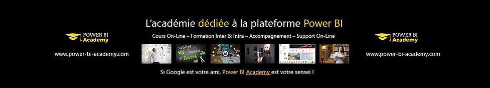 Power BI Academy, l'académie On Line Cours On Line Formation Accompagnement