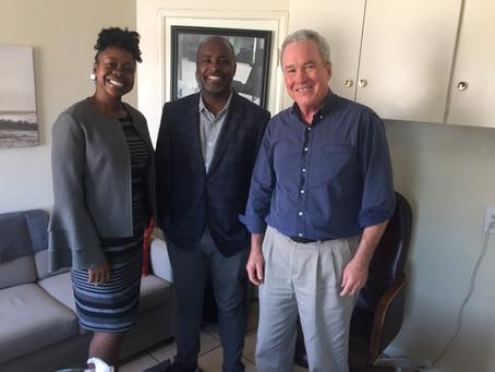 Councilmember Marqueece Harris-Dawson visits WCC