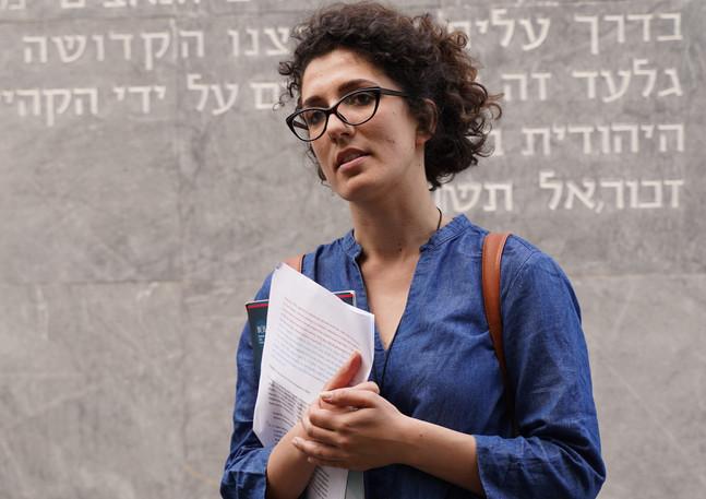 Reading at the Jewish Sephardic Cemetery