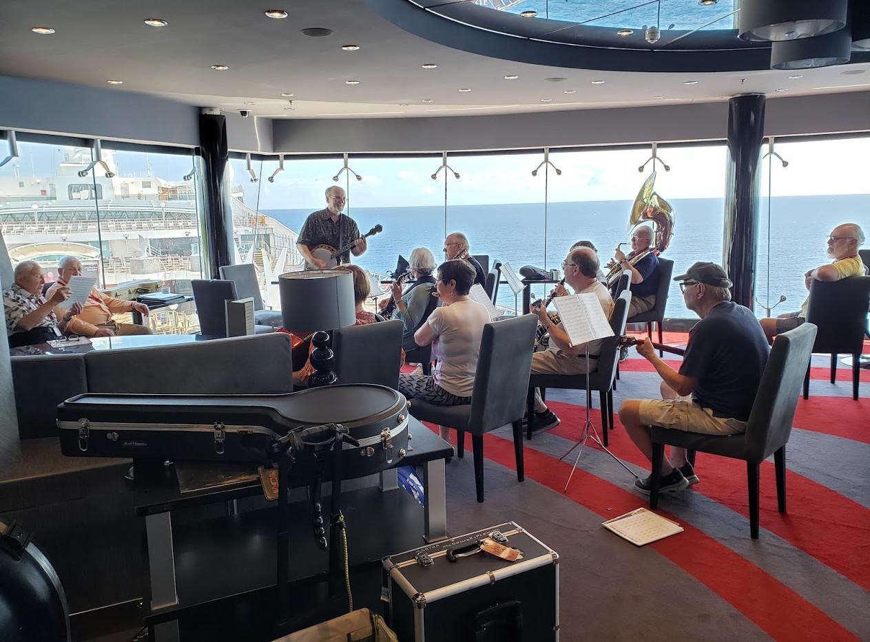 Tim Allan's Banjos at Sea program.