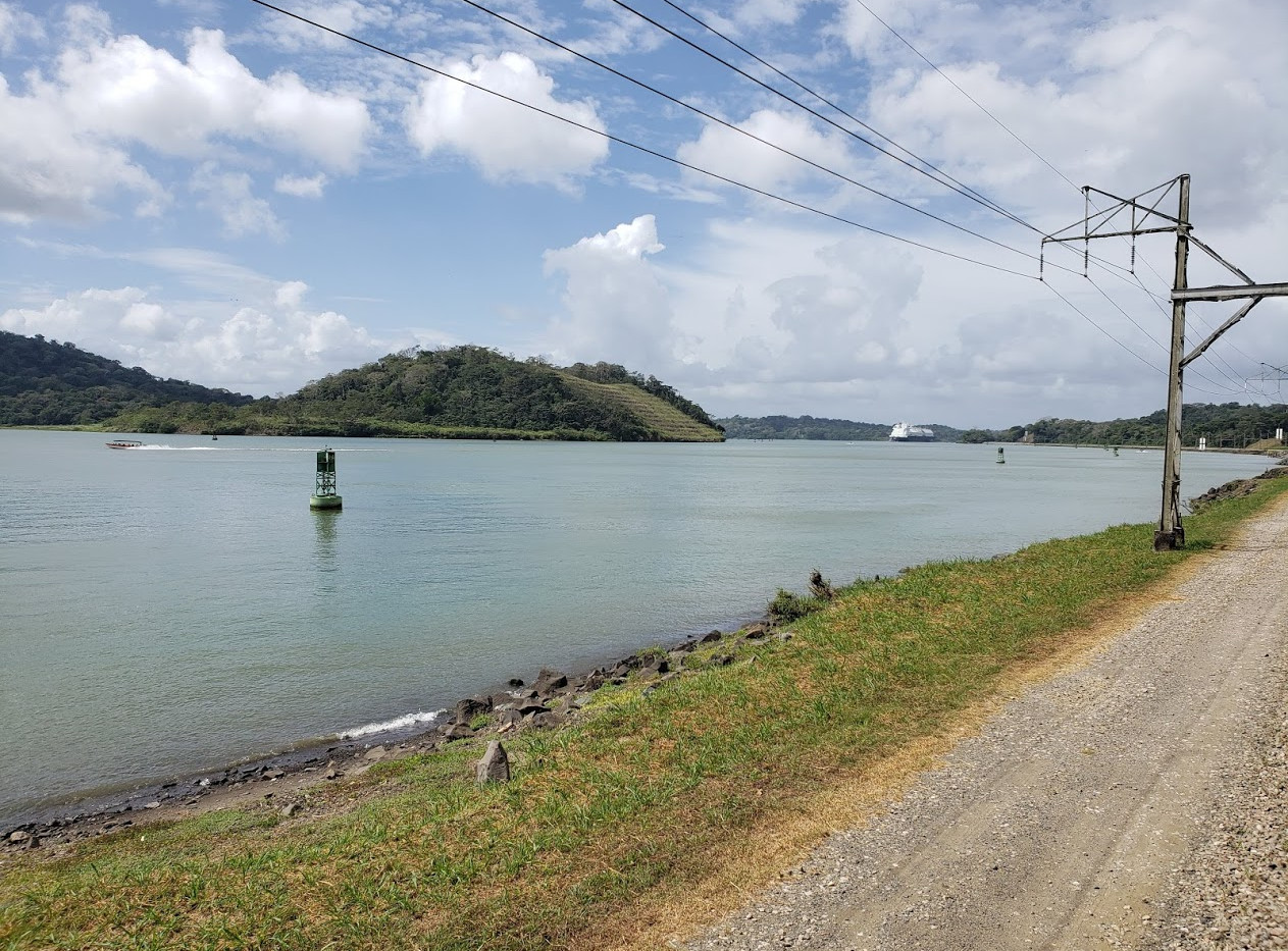 And part of our journey was along the Panama Canal.