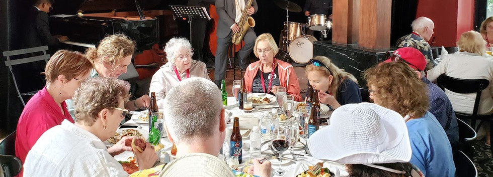 Our guests enjoying a fabulous lunch and an amazing private jazz performance at Danilo's Jazz Club in Panama City.