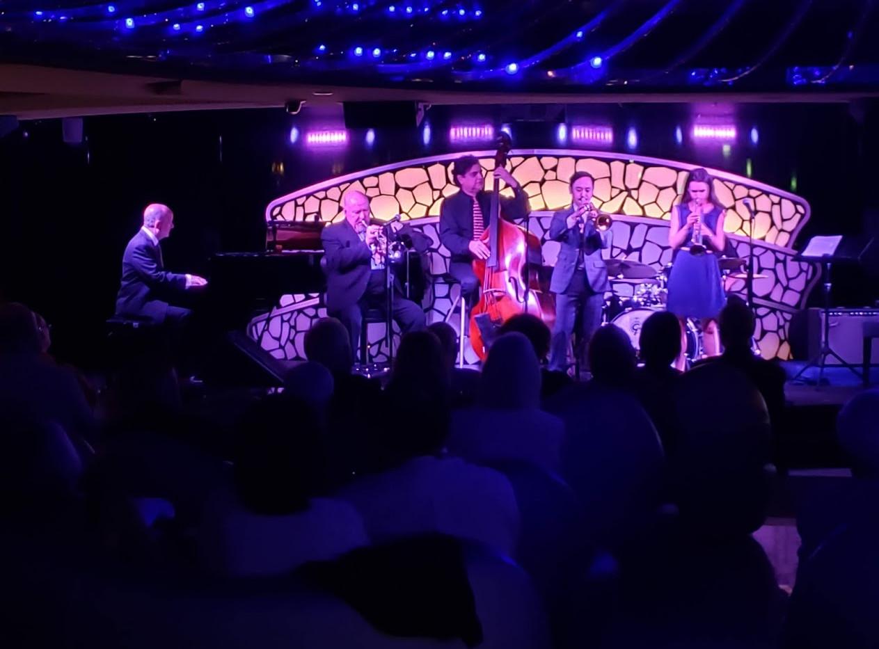 Tardo Hammer, Warren Vache, Charlie Silva, Gordon Au and Andrea Motis.