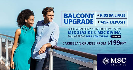 MSC Cruises Balcony Sale