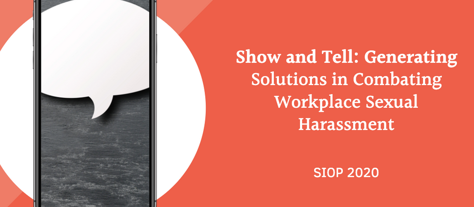 TrustIn at SIOP2020: Solutions in Combating Workplace Sexual Harassment