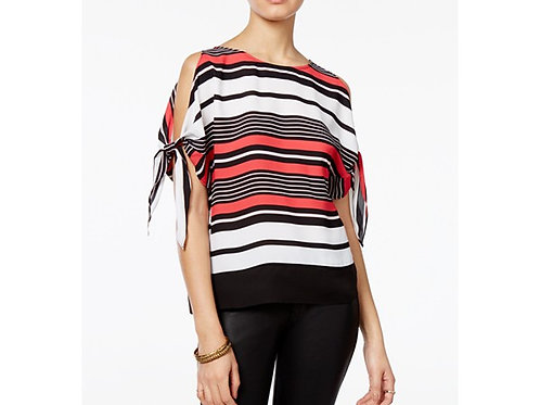 Stripe Cold Shoulder