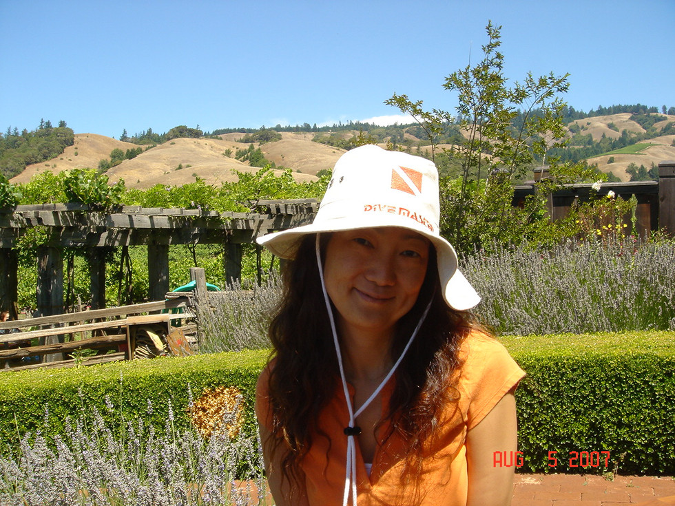 Aug-5-2007 at some winery in Napa Valley