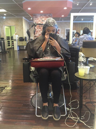 Sept. 22, 2015 - at Hair Stylist's