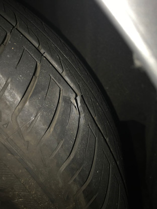 Damage done on the tire~