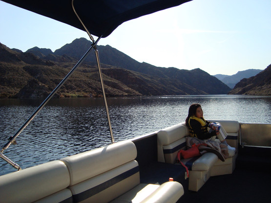 Cruising Colorado River on April 1, 2010