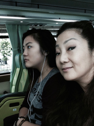heading for 'Hakone' by train