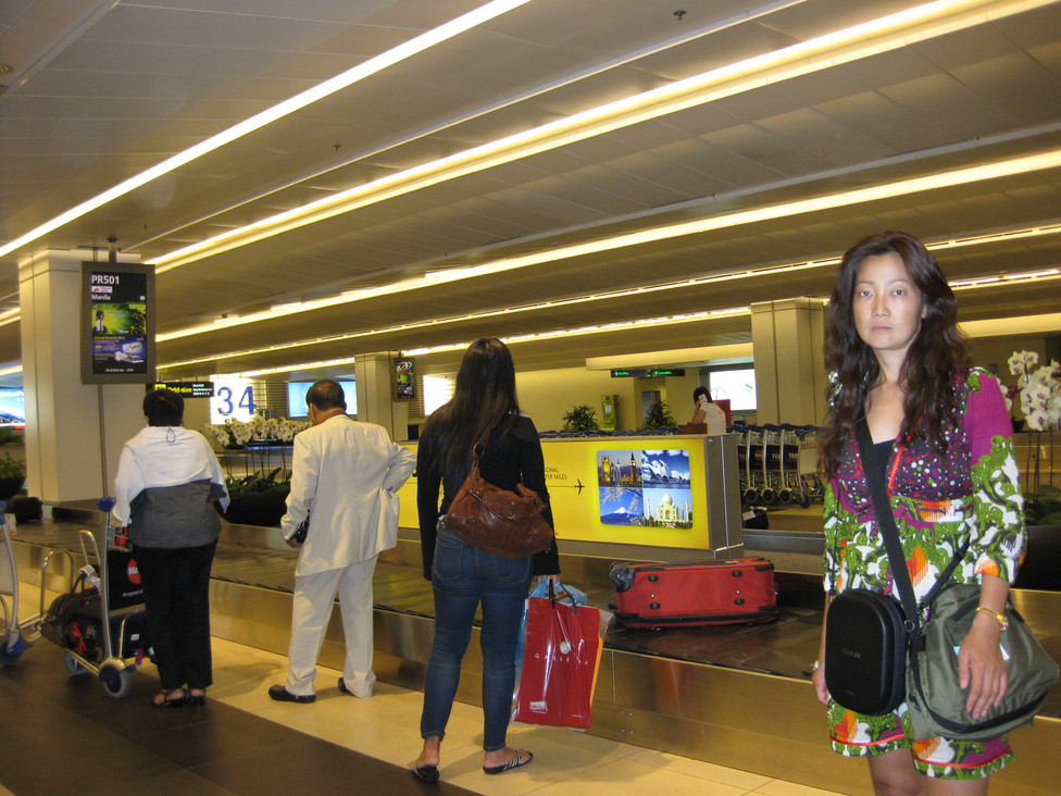 Arrived in Singapore Airport