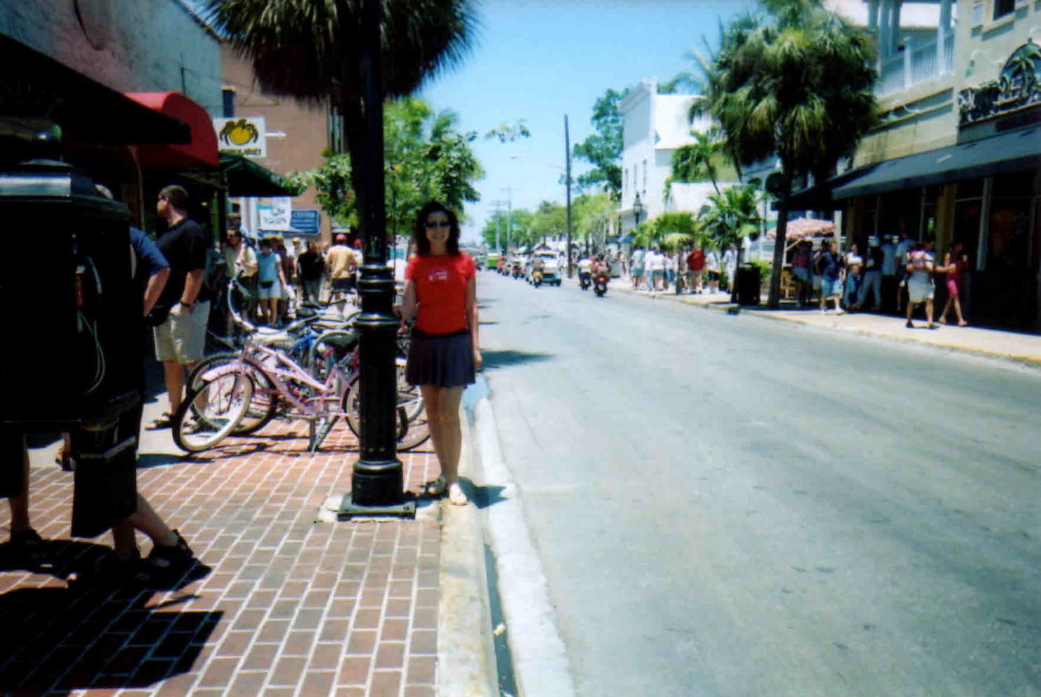 main street in the city of Keywest
