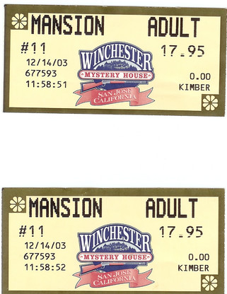 2003-Dec-14-ticket of 'Winchester Mansion'