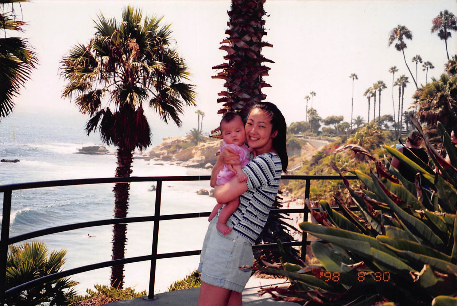 1998-August-29-by the shore of Manhattan Beach