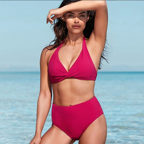 TUMMY CONTROL BATHING SUITS sea level australia rose halter top bikini