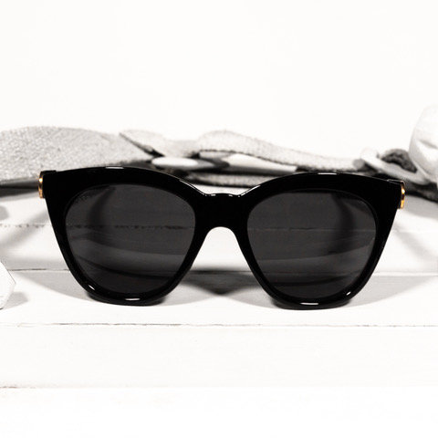 brass & unity betty black sunglasses