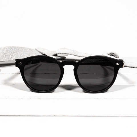 brass & unity post black matte sunglasses