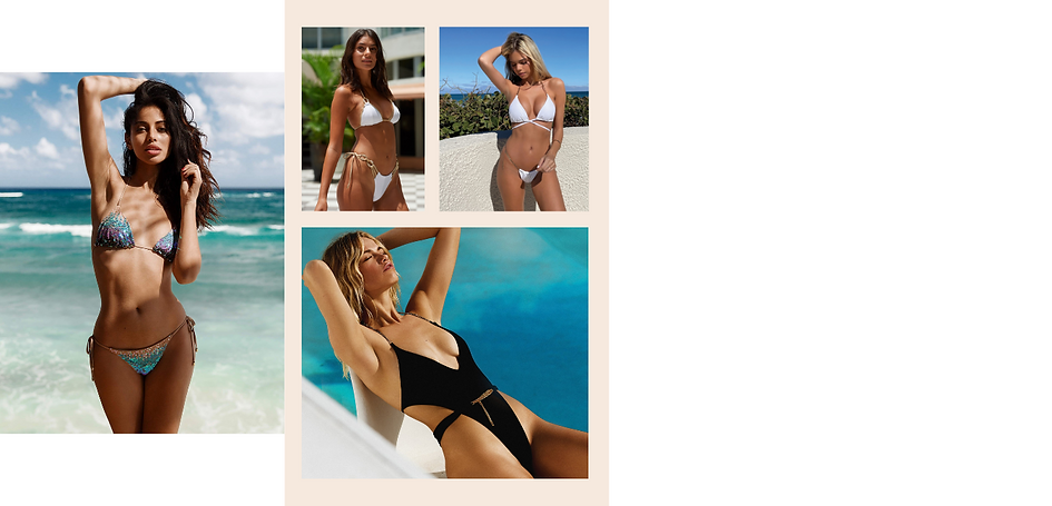 Shop sexy white bikinis and hot black swimsuit for your next vacation to miami from beach bunny swimwear canada from sun vixen swimwear which is an online swimwear store for luxury swimsuits