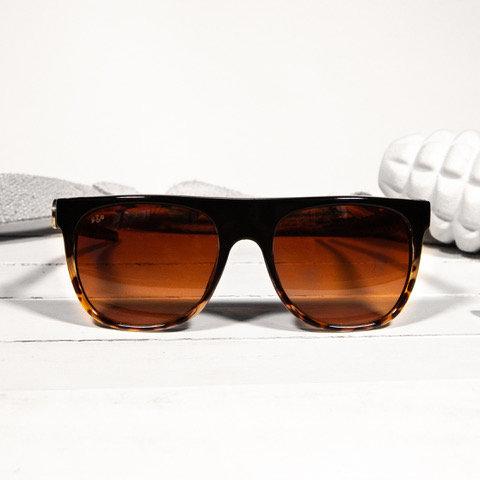commander brown tortoise sunglasses brass & unity