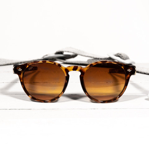 brass & unity post brown tortoise sunglasses