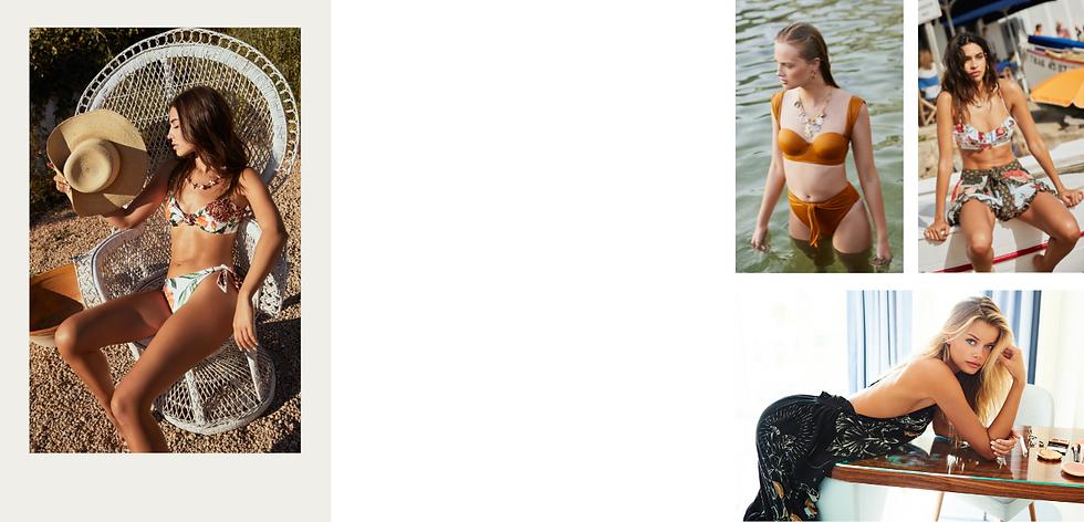 Shop most luxurious swimwear styles from agua bendita swimwear online in canada from sun vixen swimwear that sells bikinis and one piece swimsuits from agua bendita swimwear in Canada and the USA
