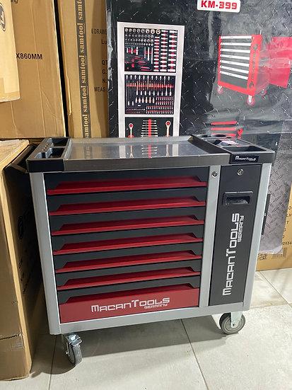 Servante à outils MacanTools 7 tiroirs dont 6 remplis + tiroir vertical