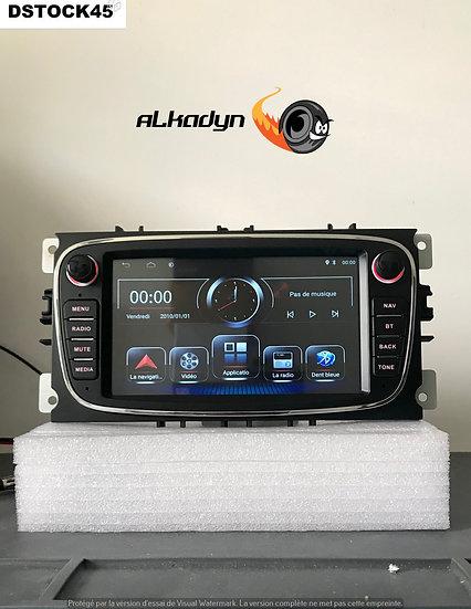 Autoradio GPS noir Alkadyn Ford S-Max C-Max Galaxy Focus Kuga Android