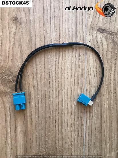 Adaptateur antenne FM double collée