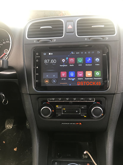 Autoradio GPS Golf 5 6 Passat Touran Tiguan Eos Android full screen