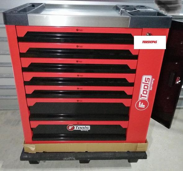 Servante à outils FTOOLS rouge 7 tiroirs 6 remplis + placard