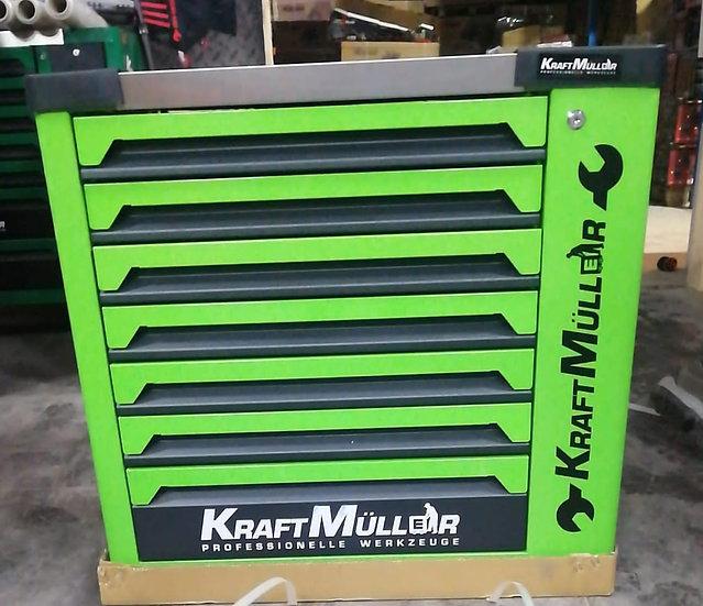 Servante à outils 7 tiroirs 6 remplis KRAFTMULLER + placard
