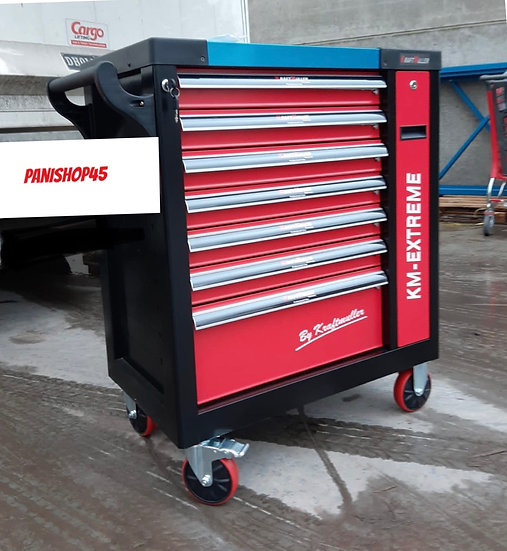 Servante d'atelier à outils KRAFTMULLER  KM-EXTREME 7 tiroirs + 1 vertical