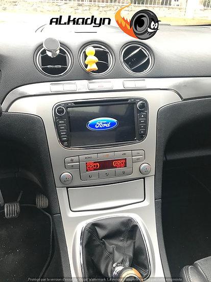Autoradio GPS noir Alkadyn Ford S-Max C-Max Galaxy Focus Kuga Android 10.0