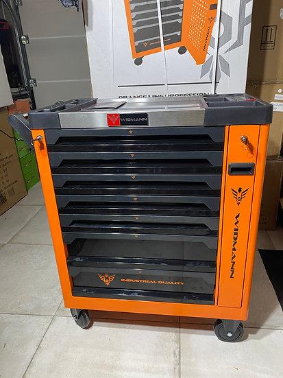 Servante Widmann 8 tiroirs XXL PRO Luxe Max édition avec 7 tiroirs remplis