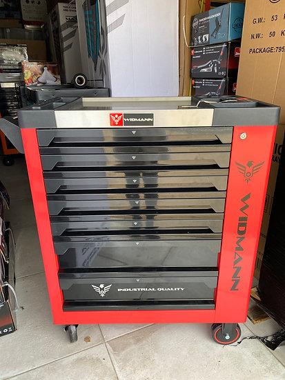 Servante à outils WIDMANN 7 tiroirs 7 remplis + 1 placard + clé dynamométrique