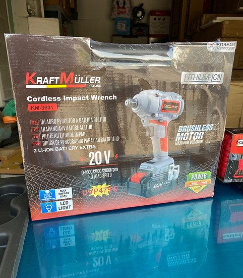 Clé à choc / Boulonneuse Aa batterie sans fil 4.0Ah 20v Lithium KRAFTMULLER