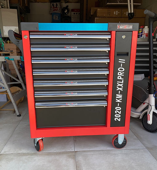 Servante d'atelier à outils XXL PRO 2 Kraftmuller 7 tiroirs + 1 vertical