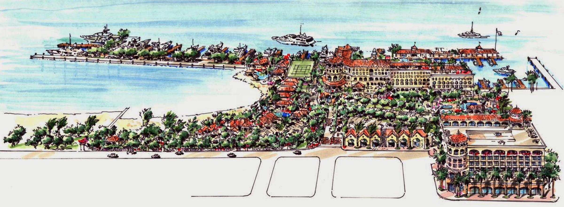 British Colonial Hilton Master Concept - Interior Island View