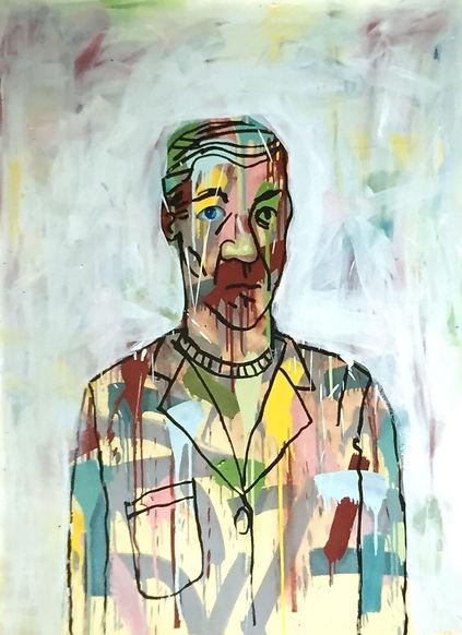 Imaginary Portrait with Blue Eye, 36x 48