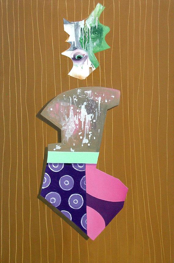 Figure with Purple Drips- 1998-2000-   o