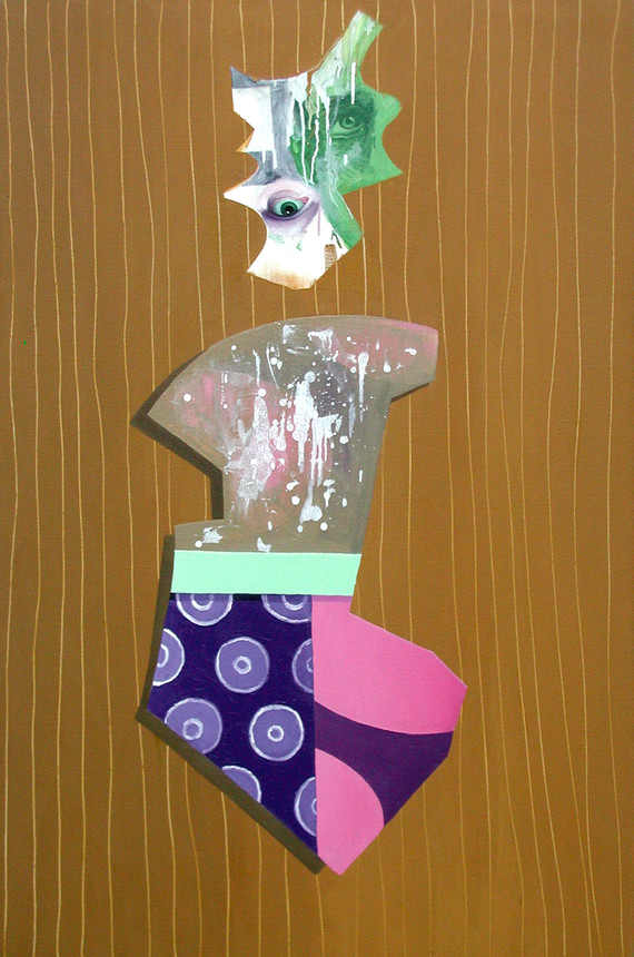 Figure with Purple Drips- 1998-2000-   o