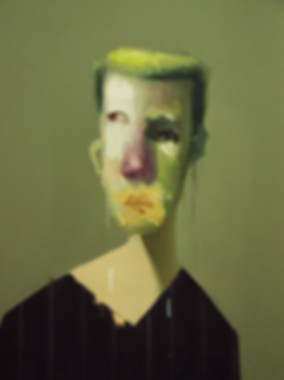 Untitled Portrait with Eight Stripes and