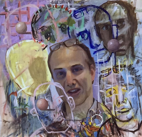 Portrait of Martin Hasen 1985,oil and ac