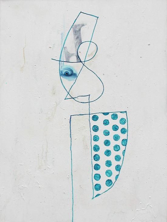 MARKER PORTRAIT WITH BLUE EYE-1997- MIXE