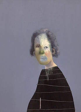 Untitled Portrait with Drips, Scatches a